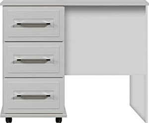 White single pedestal dressing table ready assembled for Ready assembled bedroom furniture