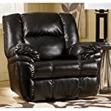DuraBlend - Black Rocker Recliner by Ashley Furniture