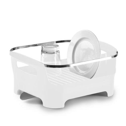 Umbra égouttoir à vaisselle blanc avec bec de drainage amovible