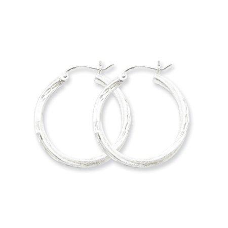 2.5mm, Silver, Twisted Hoop Earrings - 25mm (1