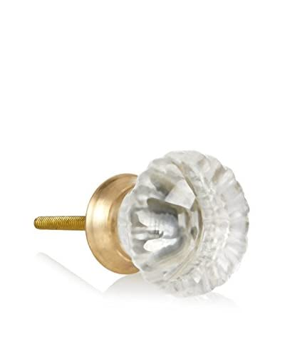 A. Sanoma Inc. Swirl Glass Knob, Clear