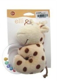 Elli & Raff Plush Baby Rattle - Teether Toy Raff- (TOY093890)