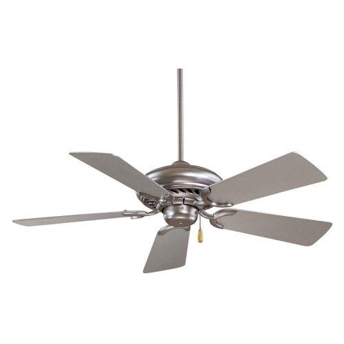 Minka Aire F563-BS Supra 44 in. Indoor Ceiling Fan - Brushed Steel