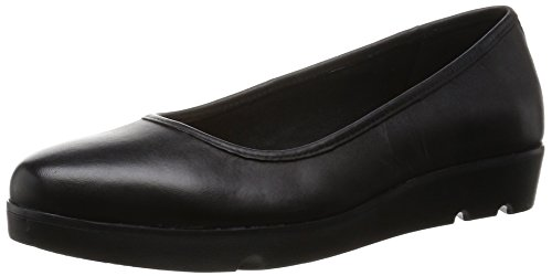 ClarksEvie Buzz - Mocassini Donna , Nero (Nero (Black Leather)), 42