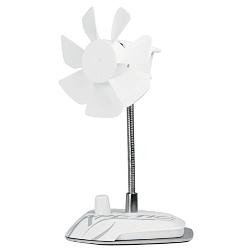 Arctic Breeze Usb Desktop Fan With Flexible Neck And Adjustable Fan Speed, White (Abaco-Brzwh01-Bl) front-192004
