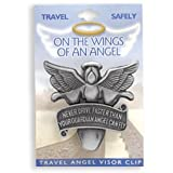 Never Drive Faster Than Your Guardian Angel Can Fly Visor Clip