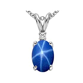 Star Sapphire pendant, available at Amazon.com
