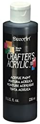 DecoArt DCA47-9 Crafters Acrylic, 8-Ounce, Black