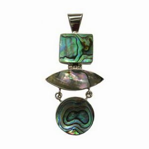 Paua Shell and Sterling Silver Pendant