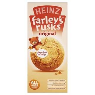 Heinz All Ages 4-6 Months Onwards Farley's Rusks Original 150g x Case of 6