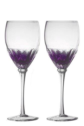 Set aus 2 Solar Weingläsern, violett
