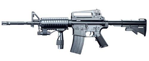 Spring M16A5 Assault Rifle Grip, Collapsible Stock Airsoft Gun