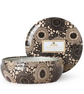 Voluspa Crème de Peche - 3 Wick Candle in Decorative Tin