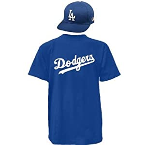Los Angeles Dodgers Combo MLB CAP & JERSEY Major League Baseball Licensed Replica... by Authentic Sports Shop