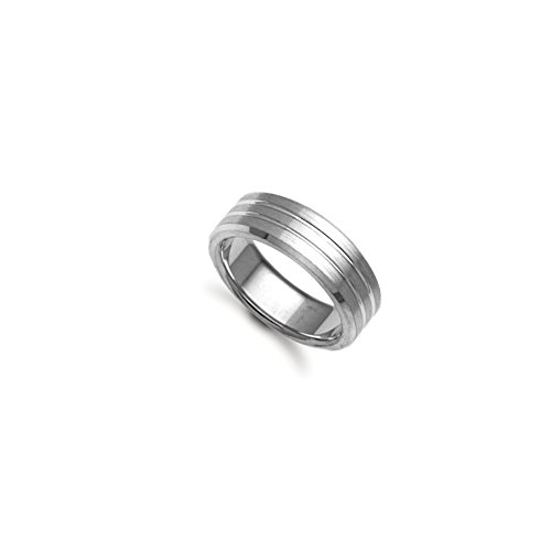 7mm - 9ct White Gold Fancy Wedding Band Ring