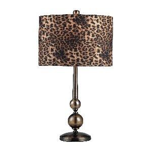 Artistic Lighting Alliance Table Lamp, Coffee/Smoked Glass
