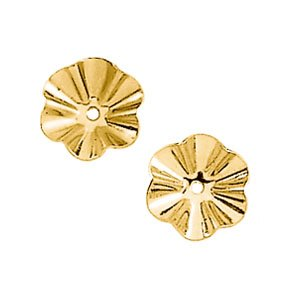 14KY gold 6.75mm buttercup earring jacket