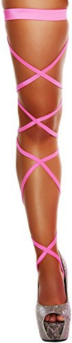 Roma Women's 100 Inch Solid Leg Strap with Attached Garter, White, One Size
