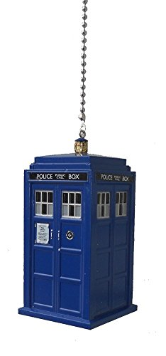 doctor Dr. Who character - CEILING Fan PULL light chain ornament (Blue Tardis) (Character Ceiling Fans compare prices)