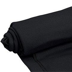 Mellotone Premium Black Speaker Grill Cloth Yard 64