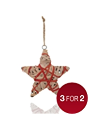 Natural Wrapped Star Christmas Tree Decoration