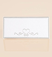 10 White & Silver Place Cards
