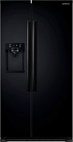 Samsung RS22HDHPNBC Energy Star 22.3 Cu. Ft. Counter-Depth Side-by-Side Refrigerator/Freezer with External Water/Ice Dispenser and In-Door Ice Maker, Black (Samsung Freeze compare prices)