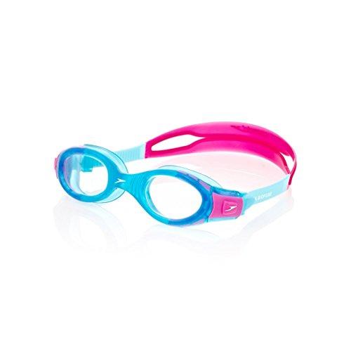 Speedo Futura Biofuse Gog Ju Occhialini, Unisex bambino, Multicolore (Blue/Pink), Universale
