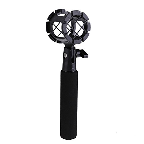 Vktech Universal Camera Shock Mount Suspension Holder + Handle For Microphone Mic