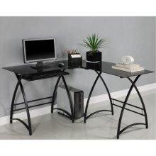 Buy Low Price Comfortable Glass L-Shaped Computer Desk – Walker Edison D51AL30B (B004B34274)