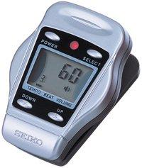 Seiko DM50S Clip Digital Metronome Silver Metronome