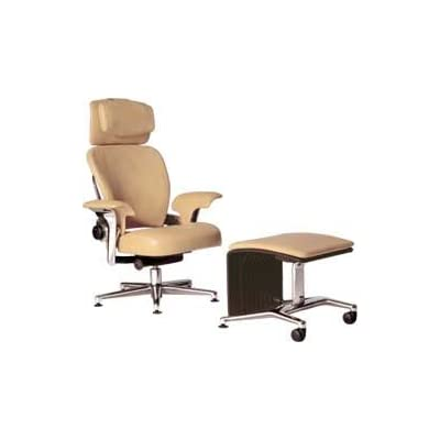 Work Lounge and Ottoman - Camel Leather - Steelcase Leap Worklounge