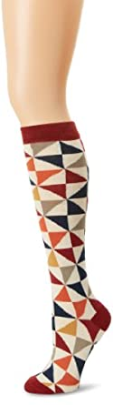 PACT Women's Quilted Knee Sock, Multi Colored, One Size