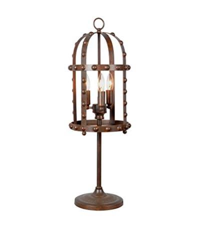 CDI Furniture Rustic Rivet Table Lamp, Rust
