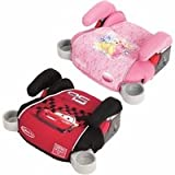 Graco Backless Turbo Booster Bundle - Jewel Princess & Disney World of Cars set of two one for boy and one for girl