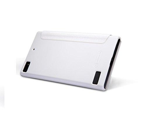 Nillkin Sparkle Leather Flip Stand Bumper Back Case Cover ForBlackberry Z3 - White