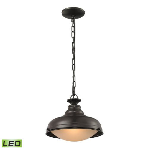 Henninger Collection 1 Light Pendant In Oil Rubbed Bronze - Led Offering Up To 800 Lumens (60 Watt Equivalent) With Full Range Dimming. Includes An Easily Replaceable Led Bulb (120V).