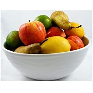 White Porcelain Fruit Bowl By Verygoodbuys
