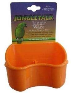 Cheap Jungle Talk Crock Loc Deluxe Feeder w/ Divider 20oz Assorted Colors (JT-80997)