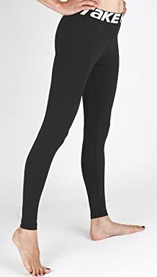 New 138 Skin Tights Compression Leggings Base Layer Black Running Pants Womens