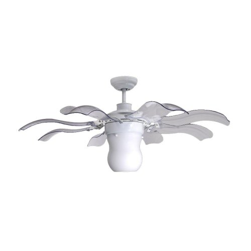 Vento Fiore 42 In. White Retractable Ceiling Fan by Vento (Retractable Blade Ceiling Fan compare prices)