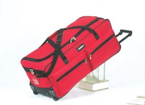 Jeep Wheeled Holdall 24 inch Luggage Bag with Wheels Red 556R