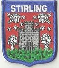 STIRLING CASTLE SCOTLAND CREST FLAG WORLD EMBROIDERED PATCH BADGE