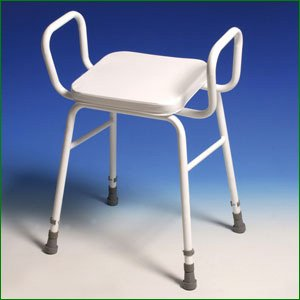 Perching Stool - Adjustable Height with arms