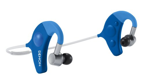 Denon Ah-W150Bu Exercise Freak In-Ear Headphones, Blue
