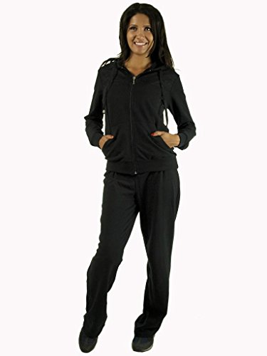 Whisper- Women French Terry Set tracksuit Missy with Lace Detailing