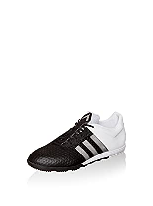 adidas Zapatillas de fútbol Ace 15+ Primeknit Cage (Negro / Blanco)