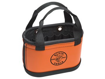 Tool Bucket, Handles, 14X7X10, 15Pkt, Orange