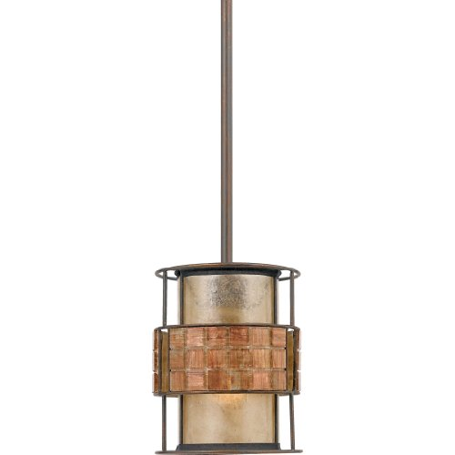 Quoizel MC842PRC Mica 1-Light Mini Pendant from the Quoizel Naturals Collection with Mica Shade, Renaissance Copper