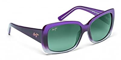 Maui Jim Lani GS239-28 Polarized Square Sunglasses,Amethyst Fade To Crystal Frame/Neutral Grey Lens,One Size